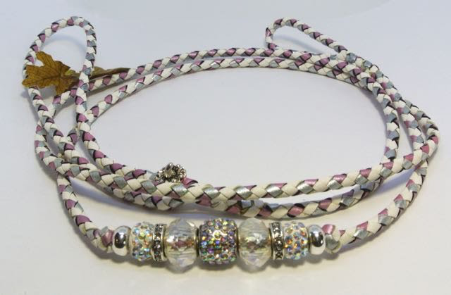 """48"""" white, shimmer pink & grey - available"""